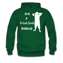 Load image into Gallery viewer, Dadbod World Hoodie (Up to 5xl) - forest green