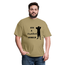 Load image into Gallery viewer, DadBod World Tee (Up to 6xl) - khaki