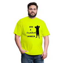 Load image into Gallery viewer, DadBod World Tee (Up to 6xl) - safety green