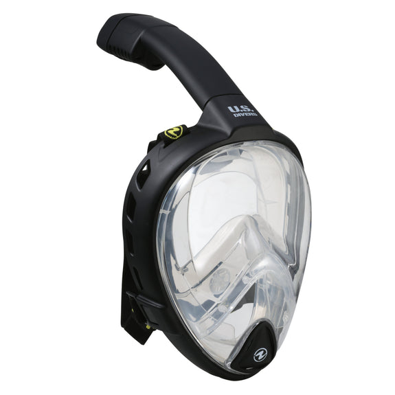 Aquatics HydroAir Full Face Snorkeling Mask Large//X-Large Durable Shatter-Resistant Full Face Swim Mask with Gear Bag.