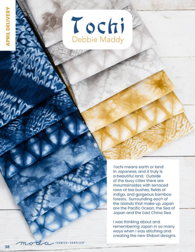 Coming Soon: Tochi by Debbie Maddy for Moda Fabrics