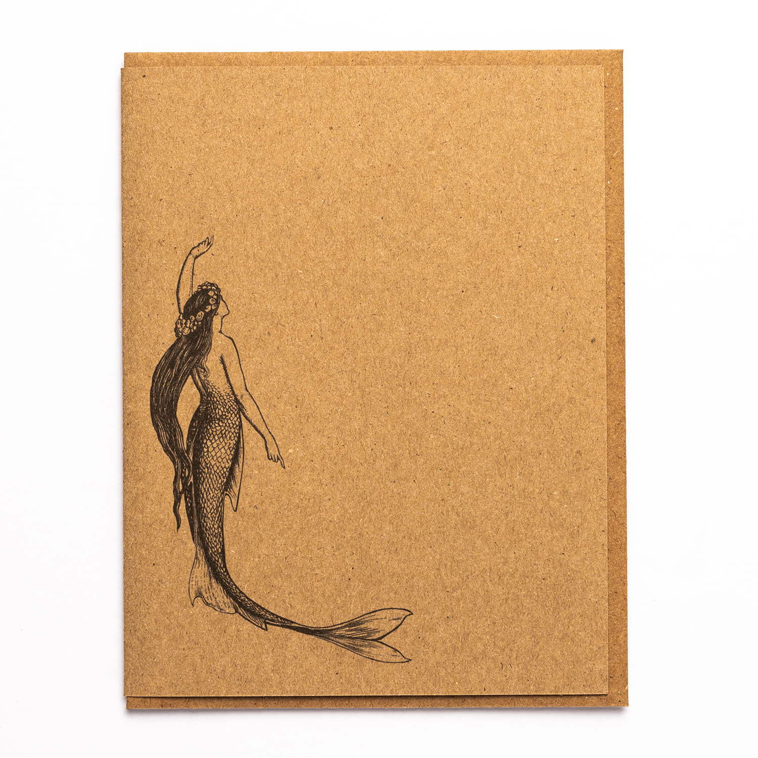 Mermaid Kraft Paper Card