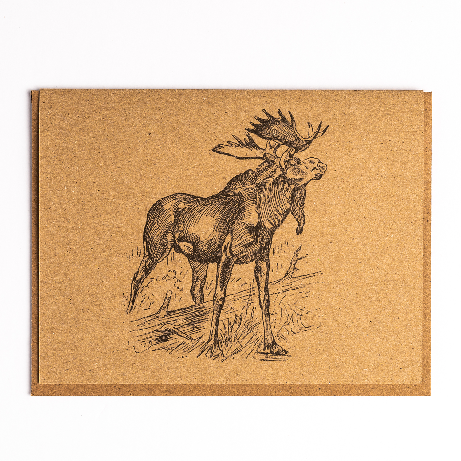 Moose Kraft Paper Card
