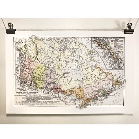 Antique Map of Canada at Confederation