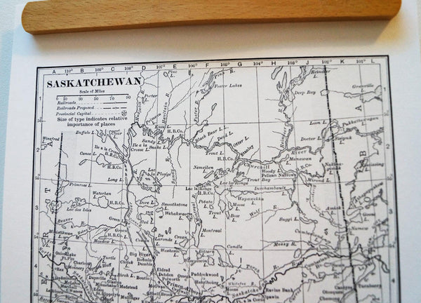 Antique Map Print of Saskatchewan, Canada