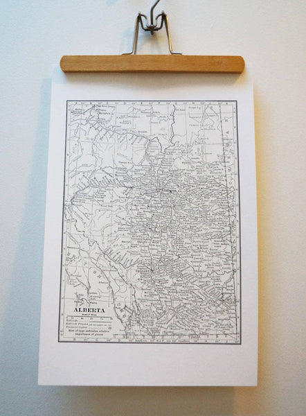 Antique Map Print of Alberta, Canada