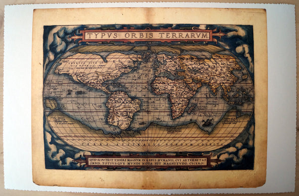 Antique Map Print of the World
