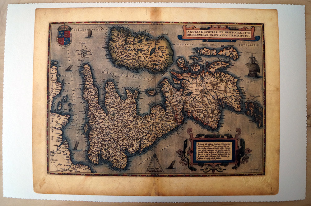 Antique Map of the United Kingdom & Ireland