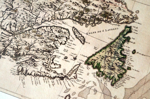 Antique Map Print of the East Coast of Canada