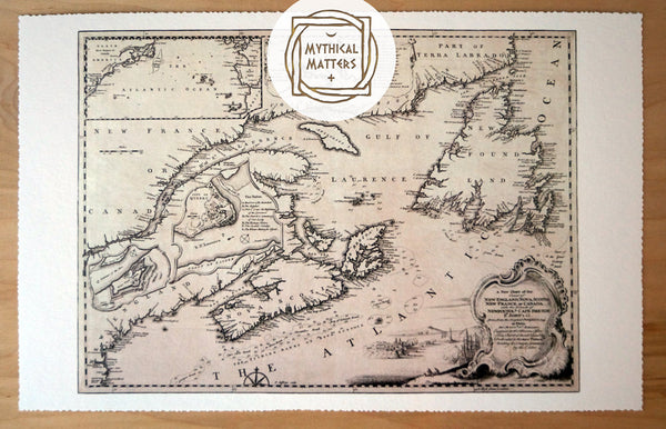 Antique Map Print of the East Coast of Canada (2)