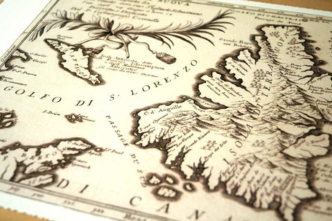 Antique Map of Newfoundland, Canada