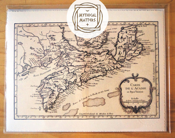 Antique Map Print of Nova Scotia, Canada