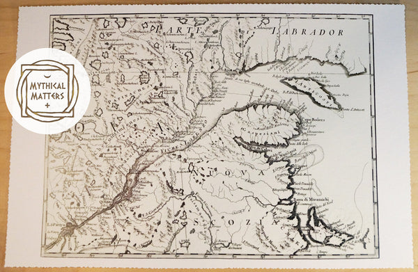 Antique Map of New Brunswick, Canada