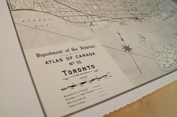 Antique Map of Toronto, Canada