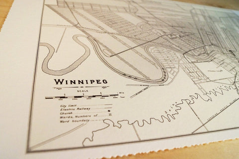 Antique Map of Winnipeg, Manitoba