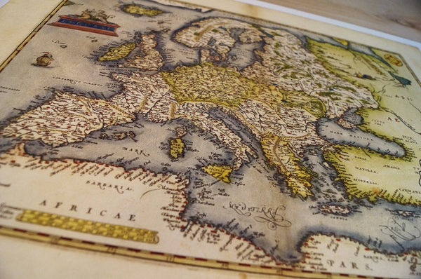 Antique Map Print of Europe