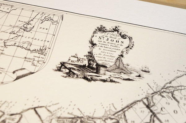 Antique Map Print of Prince Edward Island, Canada