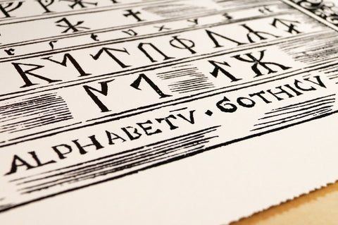 Print of the Runic Alphabet