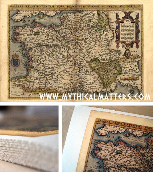Antique Map Print Of France