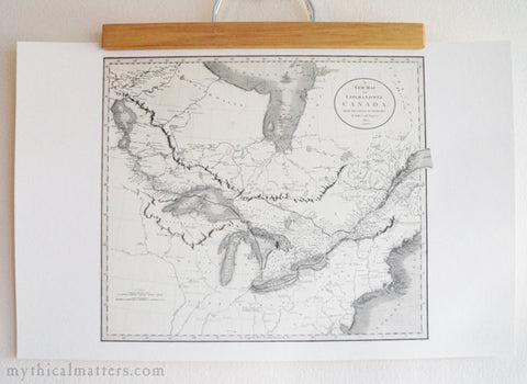 Antique Map Print of Upper & Lower Canada