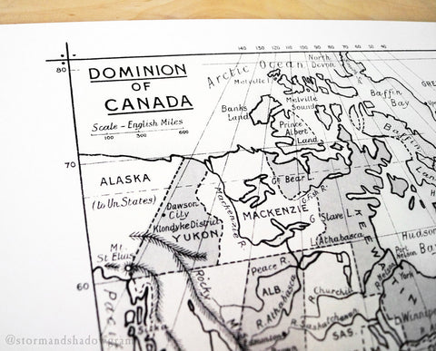 Antique Map Print of the Dominion of Canada