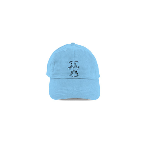two face flamingo squadron dad hat baby blue