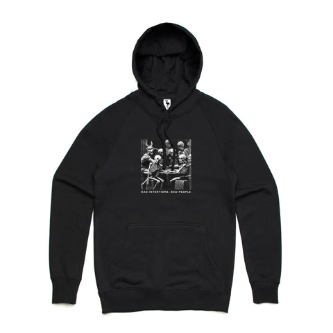 bad people bad intentions hoodie flamingo squadron black