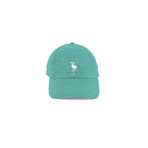 flamingo squadron logo dad hat baby teal