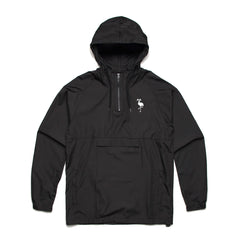 logo hooded windbreaker black