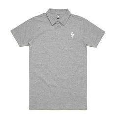 logo polo flamingo squadron heather grey
