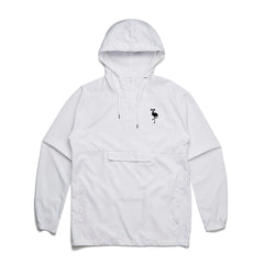 logo hooded windbreaker white
