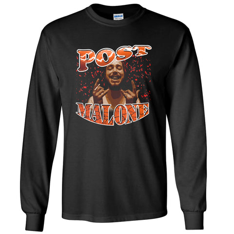 pos malone stoney congratulations cool funny meme long sleeve tee black