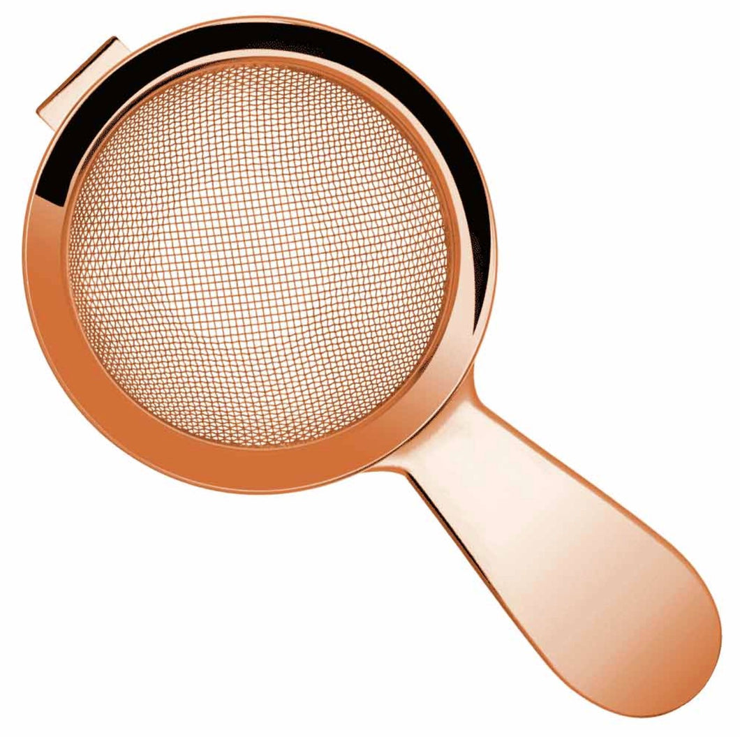 Biloxi fine strainer 60mm handle Copper