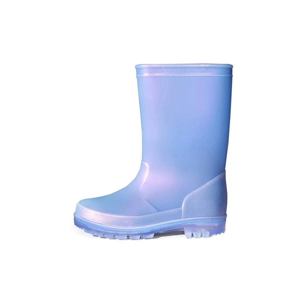 Kids Rain Boots Girls Shimmer Blue for Boys - KKOMFORME