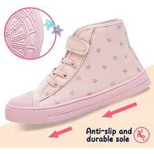Load image into Gallery viewer, Kids Sneakers High-top Canvas Shoes Pink Stars - KKOMFORME
