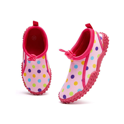 Kids Beach Water Shoes Non-Slip Quick Dry Pink Dots -- K Komforme