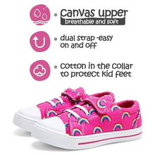 Load image into Gallery viewer, Kids Boys Girls Sneakers for Pink Rainbow - KKOMFORME