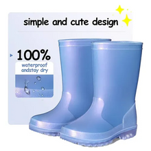 Load image into Gallery viewer, Kids Rain Boots Girls Shimmer Blue for Boys - KKOMFORME
