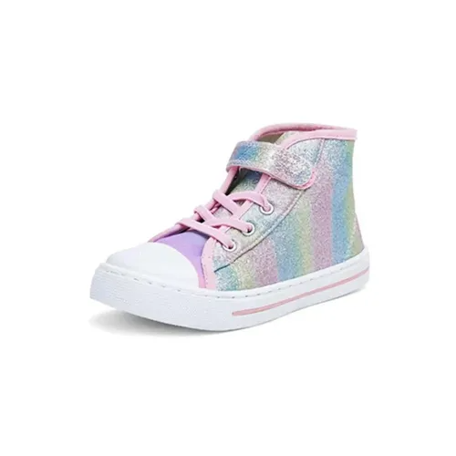 Kids Sneakers High-top Canvas Shoes Colorful - KKOMFORME