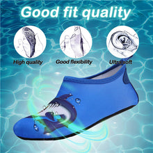 Load image into Gallery viewer, Boys and Girls Beach Water Shoes Blue Shark - Kkomforme