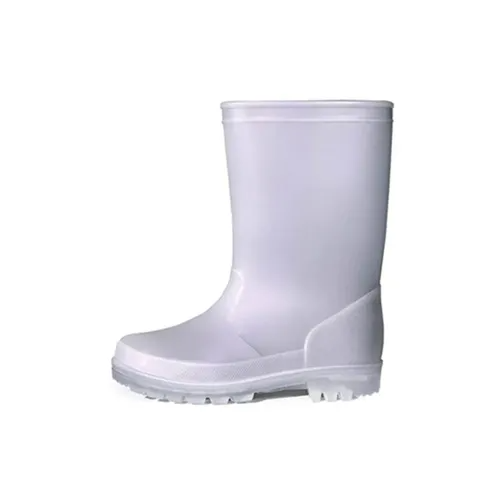 Kids Rain Boots Girls Shimmer Gray for Boys - KKOMFORME