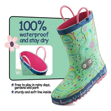 Load image into Gallery viewer, Girl Rain Boots Rubber Spider Kids Shoes - KKOMFORME