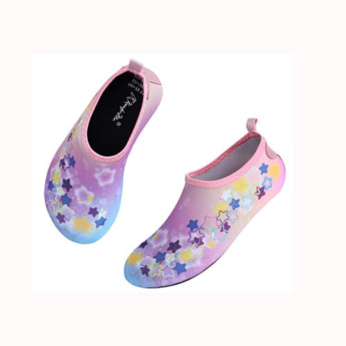 Boys and Girls Beach Water Shoes pink star -Kkomforme