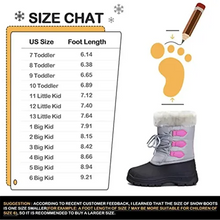 Load image into Gallery viewer, Kids Snow Boots for Boys & Girls Winter Boots Gray - KKOMFORME