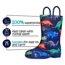 Load image into Gallery viewer, Boys Light Rain Boots Dinosaur Kids Shoes - KKOMFORME