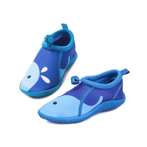 Kids Beach Water Shoes Non-Slip Quick Dry Blue Whale -- K komforme