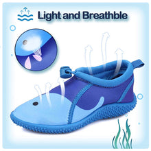 Load image into Gallery viewer, Kids Beach Water Shoes Non-Slip Quick Dry Blue Whale -- K komforme