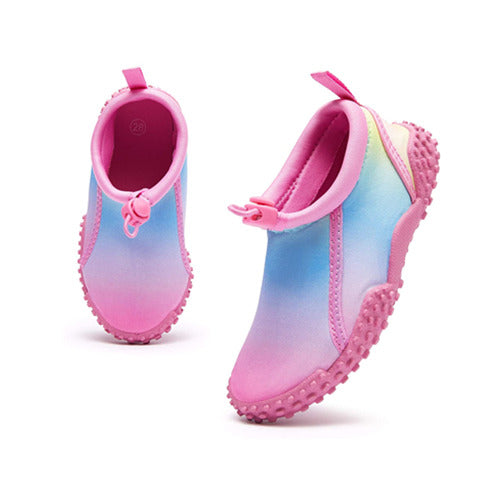 Kids Beach Water Shoes Non-Slip Quick Dry Gradient Pink -- K komforme