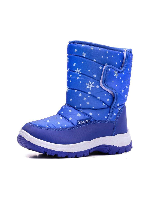 Kids Snow Boots for Boys & Girls Winter Boots Blue Snow - KKOMFORME - KKOMFORME SHOE