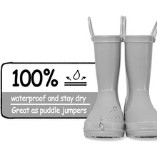Load image into Gallery viewer, Kids Girls Light Rain Boots Solid Gray - KKOMFORME